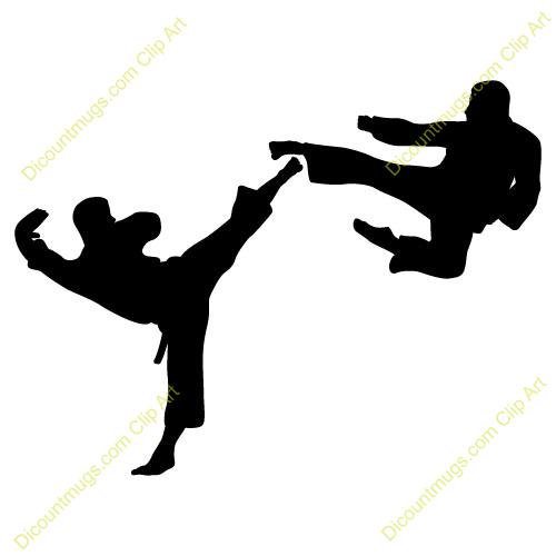 500x500 Martial Arts Clipart Silhouette