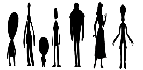 479x235 Figure 1 Simplified Character Silhouettes Scientific Diagram