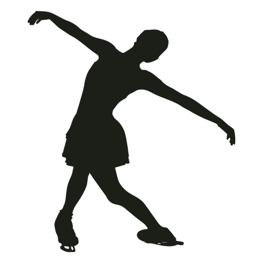 512x512 Girl Figure Skating Silhouette