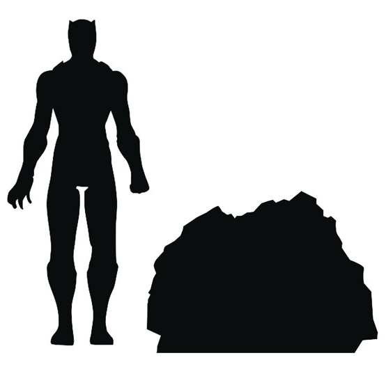 554x540 Marvel Select Black Panther Movie Figure Silhouette