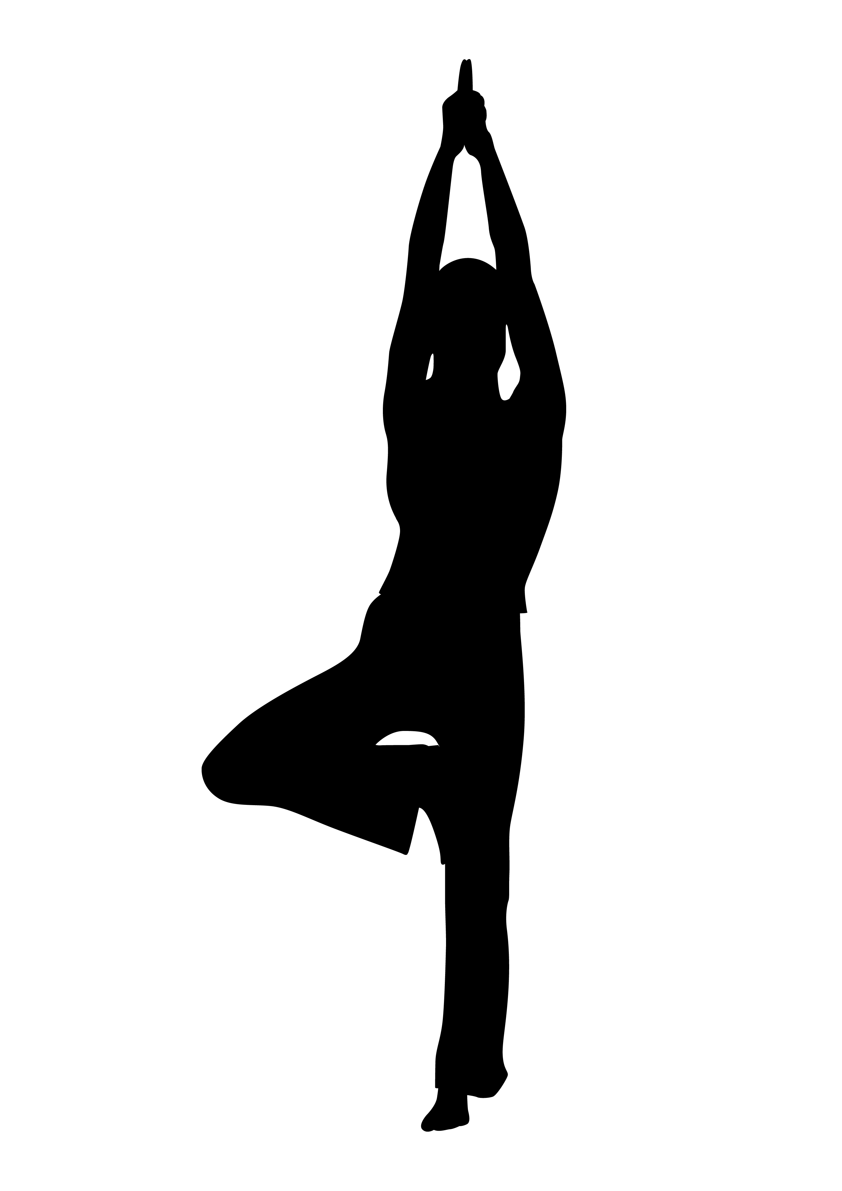 2894x4093 Silhouette Illustration Of Figure Doing Physical Fitness Clipart