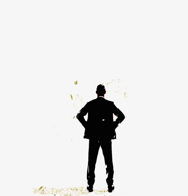 650x677 Business Silhouette Alone, Business Silhouette, Figure, Silhouette