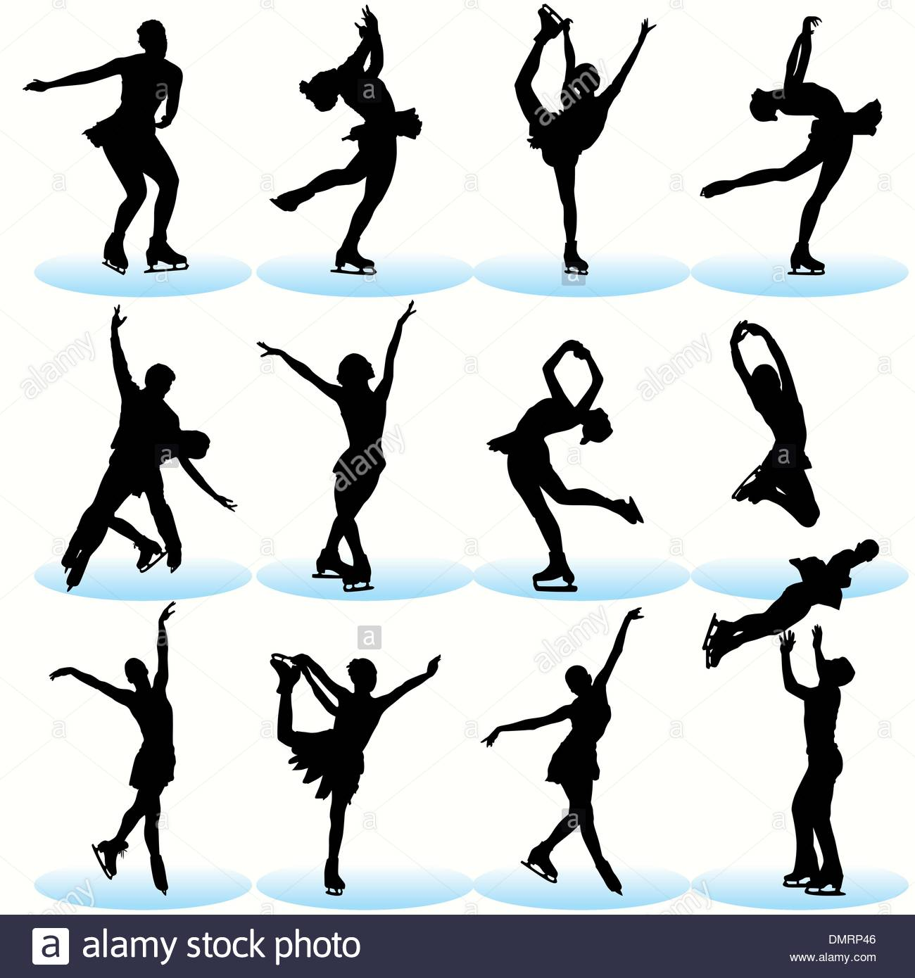1300x1390 Figure Skating Silhouettes Set Stock Vector Art Amp Illustration