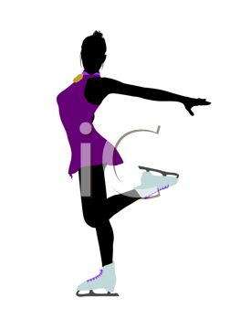 263x350 Silhouette Of A Black Girl Figure Skating