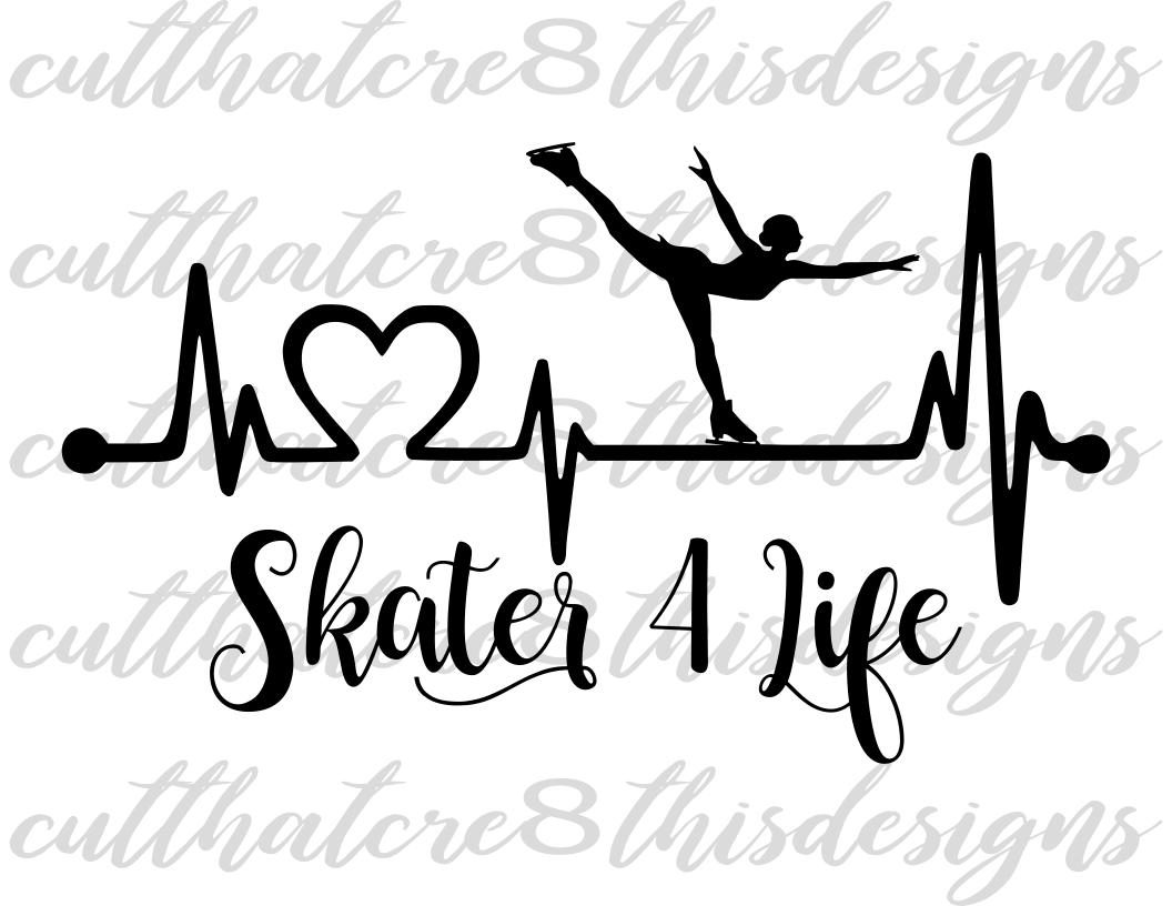 1056x816 Skater For Life, Skate, Figure Skating, Design Bundles