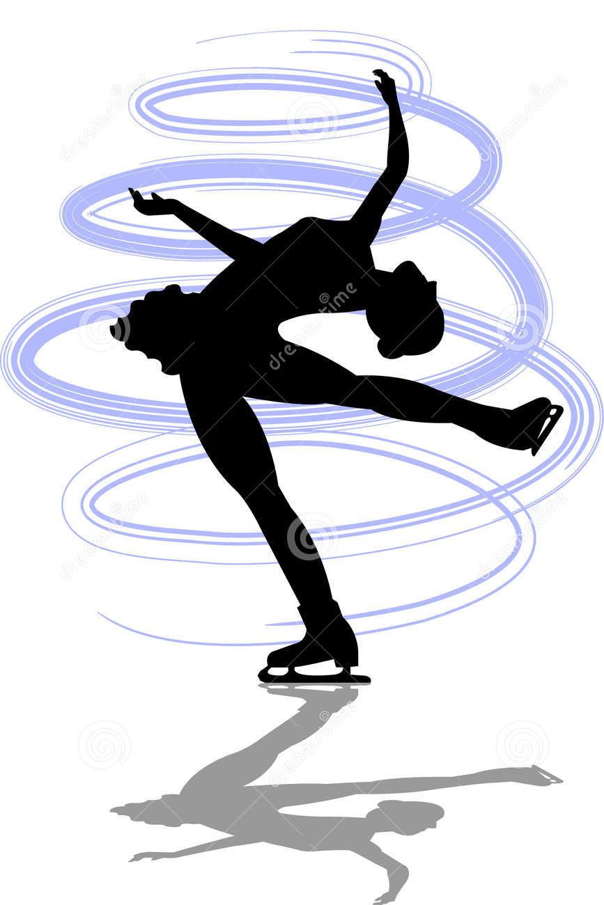 867x1300 Figure Skating Silhouette Spiral