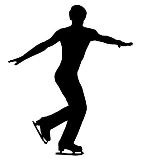 290x330 Ice Skater Silhouette 4 Decal Sticker
