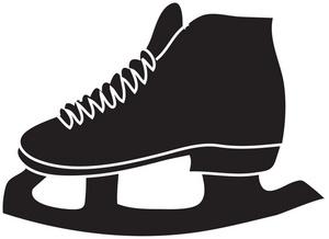 300x218 Ice Skates Clipart Image
