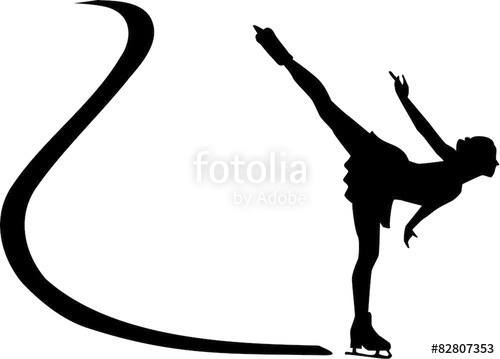 500x359 Ice Skating Silhouette Stock Image And Royalty Free Vector Files