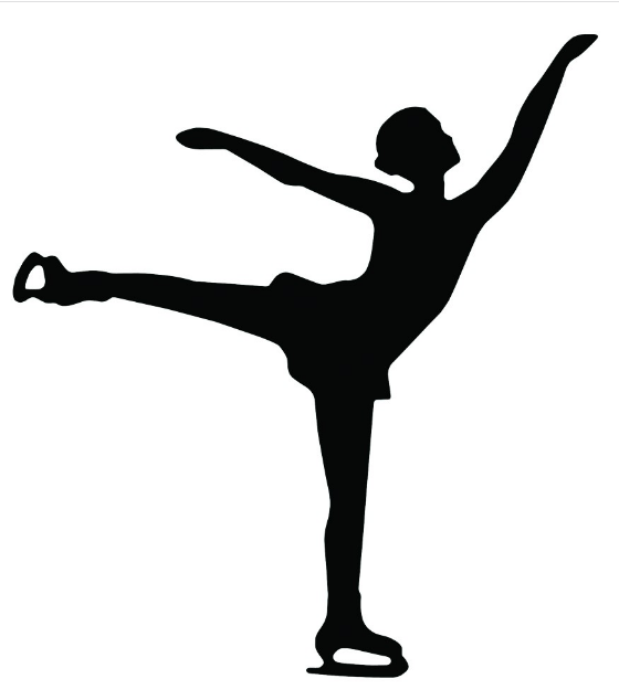 560x634 Aampr Figure Skater Silhouette Magnet United Sport Amp Cycle