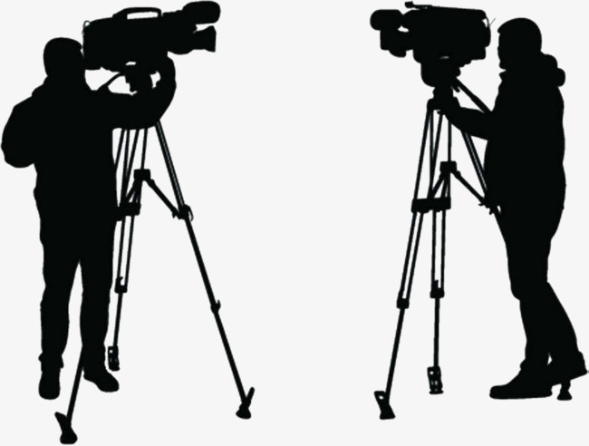 650x492 Silhouette Of A Video Reporter, Video Reporter, Reporter