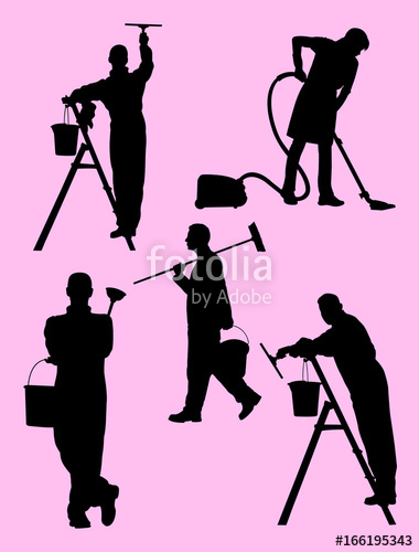 380x500 Housewife Silhouette. Stock Image And Royalty Free Vector Files