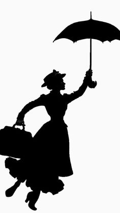 236x419 12 Mary Poppins Silhouette Images Clipart, Clipart Design