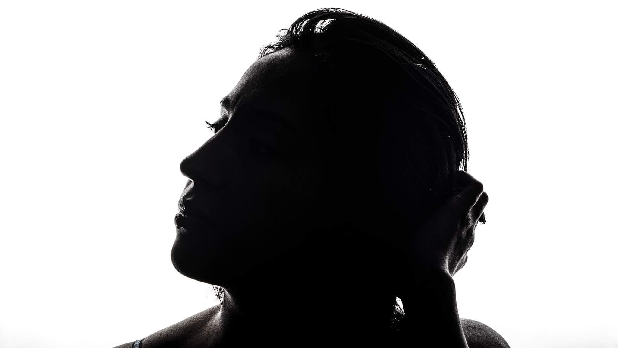 2048x1152 Free Images Silhouette, Black And White, Profile, Portrait