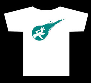 300x273 Cloud Strife Final Fantasy 7 Vii Meteor Silhouette T Shirt Ebay
