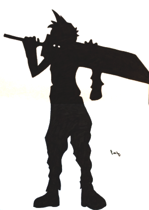 300x424 Cloud Strife Silhouette Final Fantasy Vii By Flyley