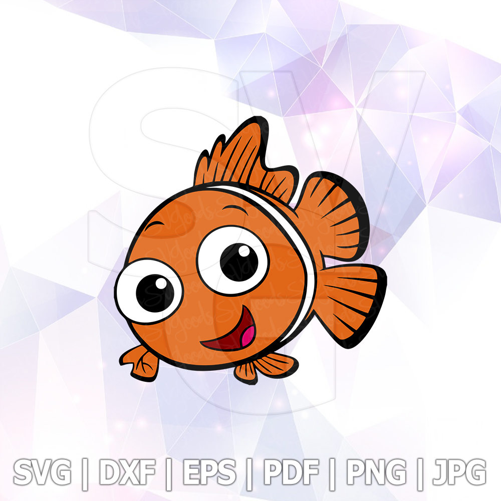 1000x1000 Finding Dory Nemo Layered Svg Dxf Png Cut File Disney Cartoon