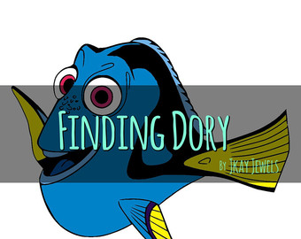340x270 Applique Dory Fish. Finding Dory. Machine Embroidery Applique