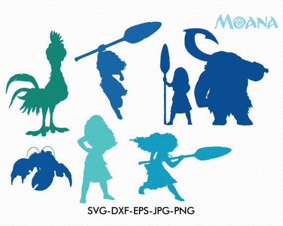 570x456 Moana Silhouettes Moana Svg Cut Files Moana Svg Disney