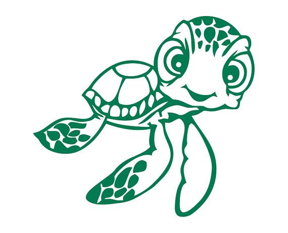 570x461 Squirt The Sea Turtle From Finding Nemo Die Cut By Texasteesetc