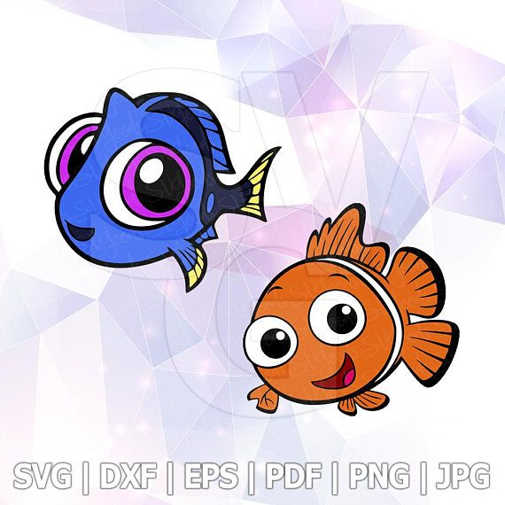 570x570 Finding Dory Nemo Layered Svg Dxf Png Cut File Disney Cartoon