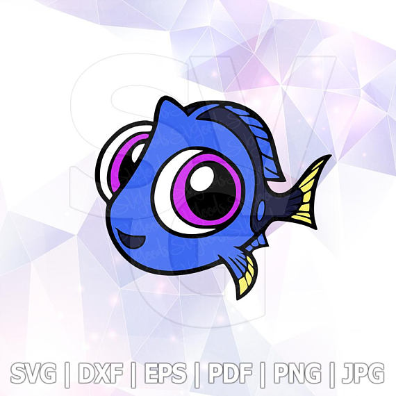 570x570 Finding Dory Baby Nemo Layered Svg Dxf Png Cut File Disney Cartoon