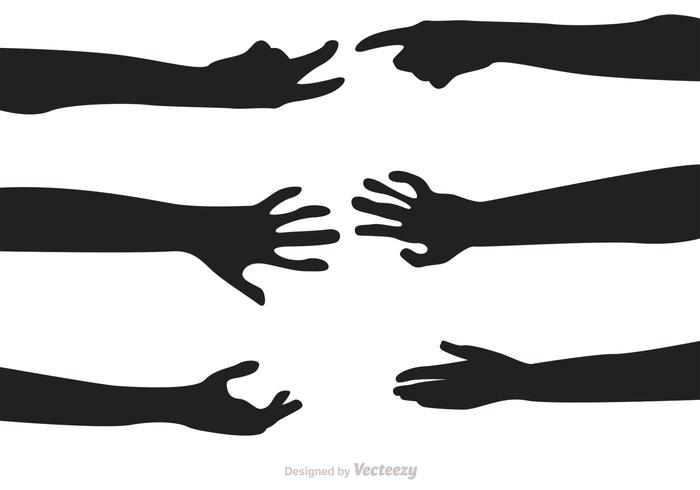 700x490 Silhouette Hand Reaching Vectors