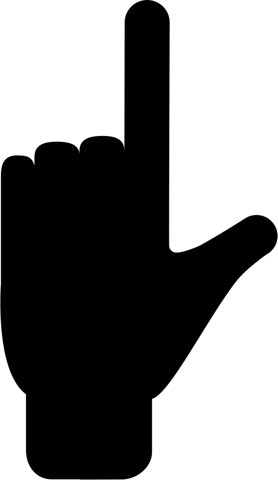 568x981 Forefinger And Thumb Fingers Extension Gesture Of Hand Silhouette