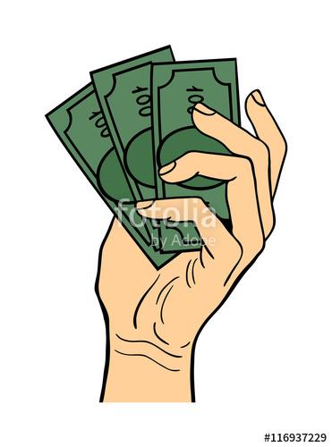 371x500 Human Hand Holding Dollar Money Pose Signal Human Fingers. Human