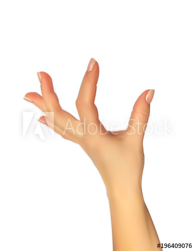 389x500 Realistic 3d Silhouette Of Hand Showing Size Your Fingers,