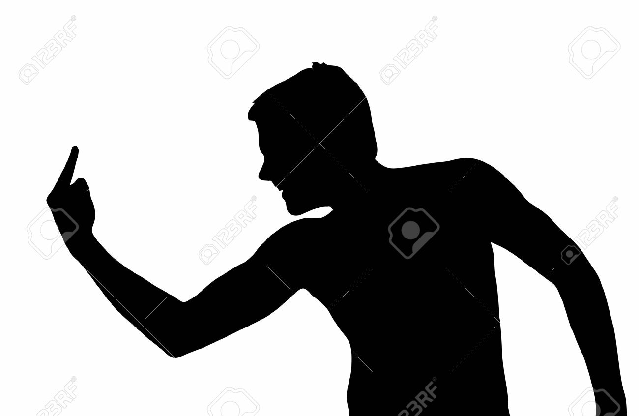 1300x846 Silhouette Middle Finger Clipart