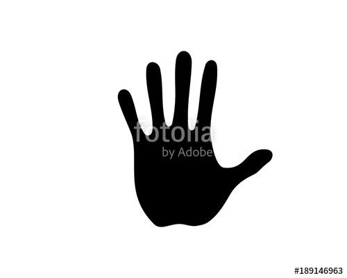 500x400 Black Five Fingers Hands Illustration Silhouette Logo Symbol