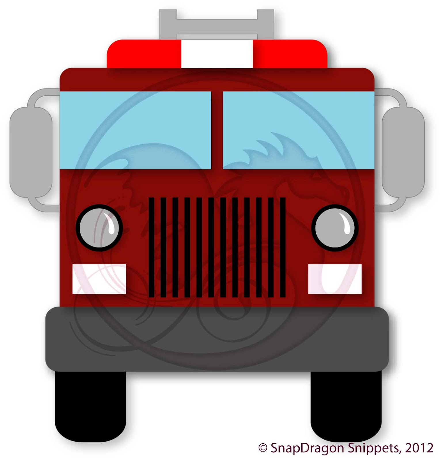 Fire Engine Silhouette