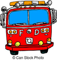187x194 Silhouette Of Fire Engine Or Truck With Blaring Sirens, Clipart