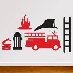 236x236 Brandweer Ed Voor Op Muur Kinderkamer Birthday