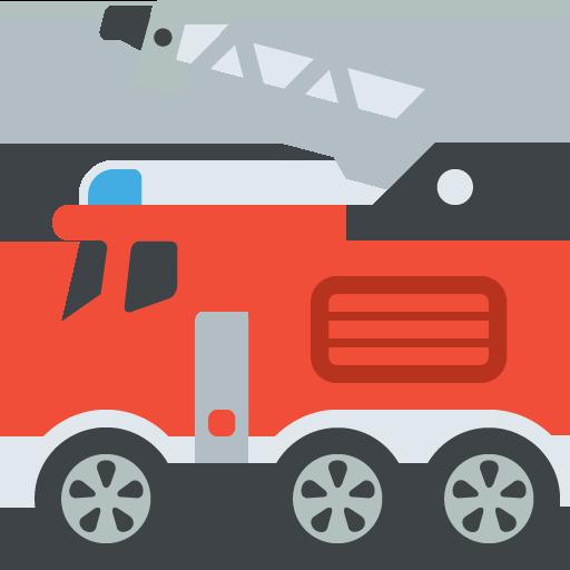 512x512 Fire Engine Emoji Vector Icon Free Download Vector Logos Art