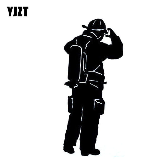 640x640 Yjzt 6.5x15.3cm Interesting Fire Fighter Fireman Vinyl Decal Car