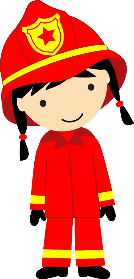 433x900 Firefighter Clipart
