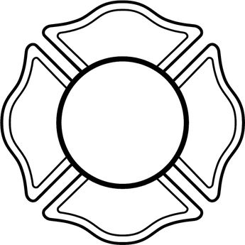 345x345 Fire Dept17 Fireman S Shield For Lettering Vinyl Decal Customize