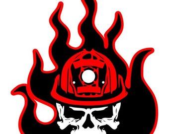 340x270 Fire Skull Etsy