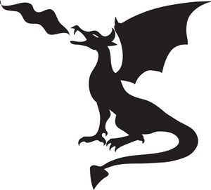 300x271 Fire Breathing Dragon Clipart