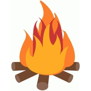 300x300 Camp Fire Silhouette Design, Silhouettes And Paper Piecing