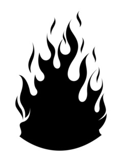 239x300 Fire Flame Vector Silhouette Royalty Free Stock Image