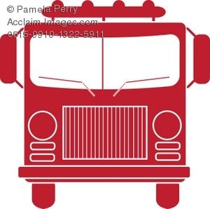 300x298 Vintage Truck Front Clip Art Fire Truck Silhouette Royalty Free