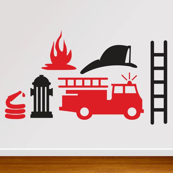 570x570 Custom Fireman Extra Pieces Firemen, Fire Trucks And Wall Decals