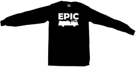480x235 Epic Fire Truck Silhouette Tee Shirt 99 Volts