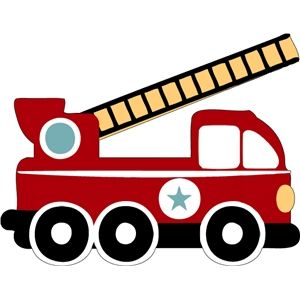 Fire Truck Silhouette Clip Art