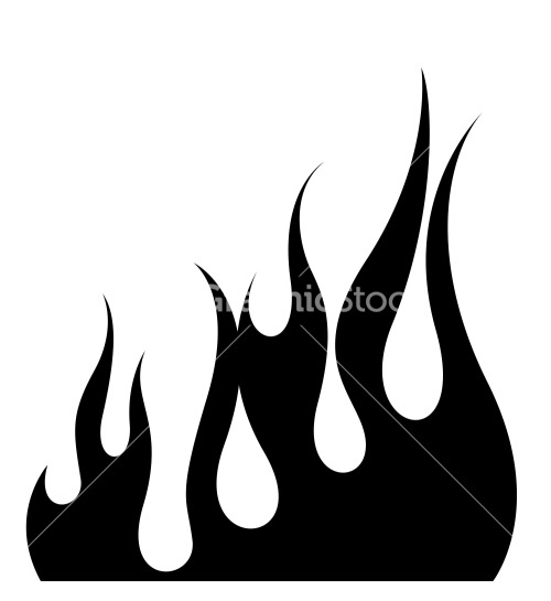 500x545 Fire Silhouette Clipart Collection