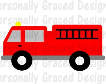 340x270 Firetruck Clipart Etsy