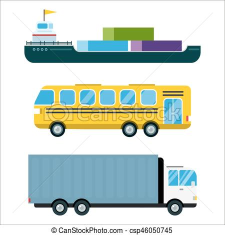 450x470 Transport Delivery Vector Isolated White Transportation Car Eps